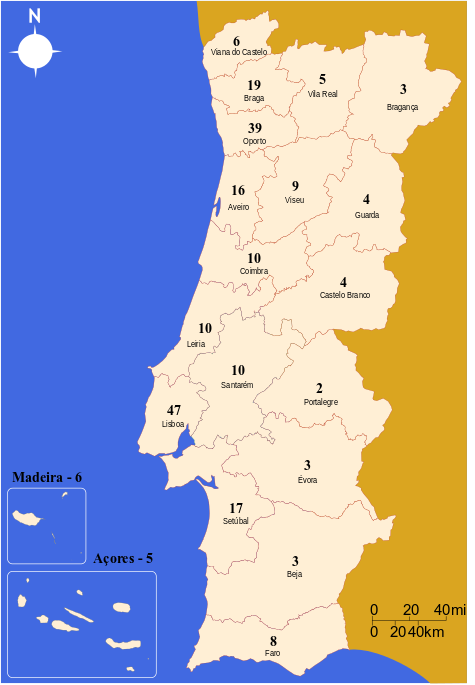 At The Edge Of Time Portugal Parliamentary Elections - Portugal election map