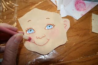 Лицо рисование рукоделие как  нарисовать  личико  куклы