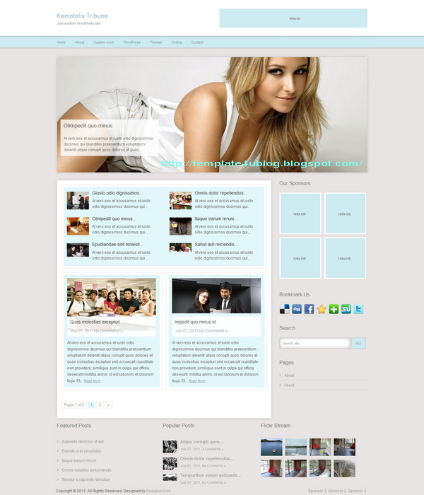 Kemotolis Tribune WordPress Theme