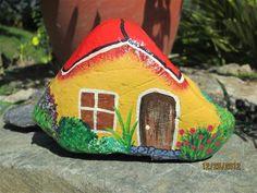 Pintar casitas en piedras