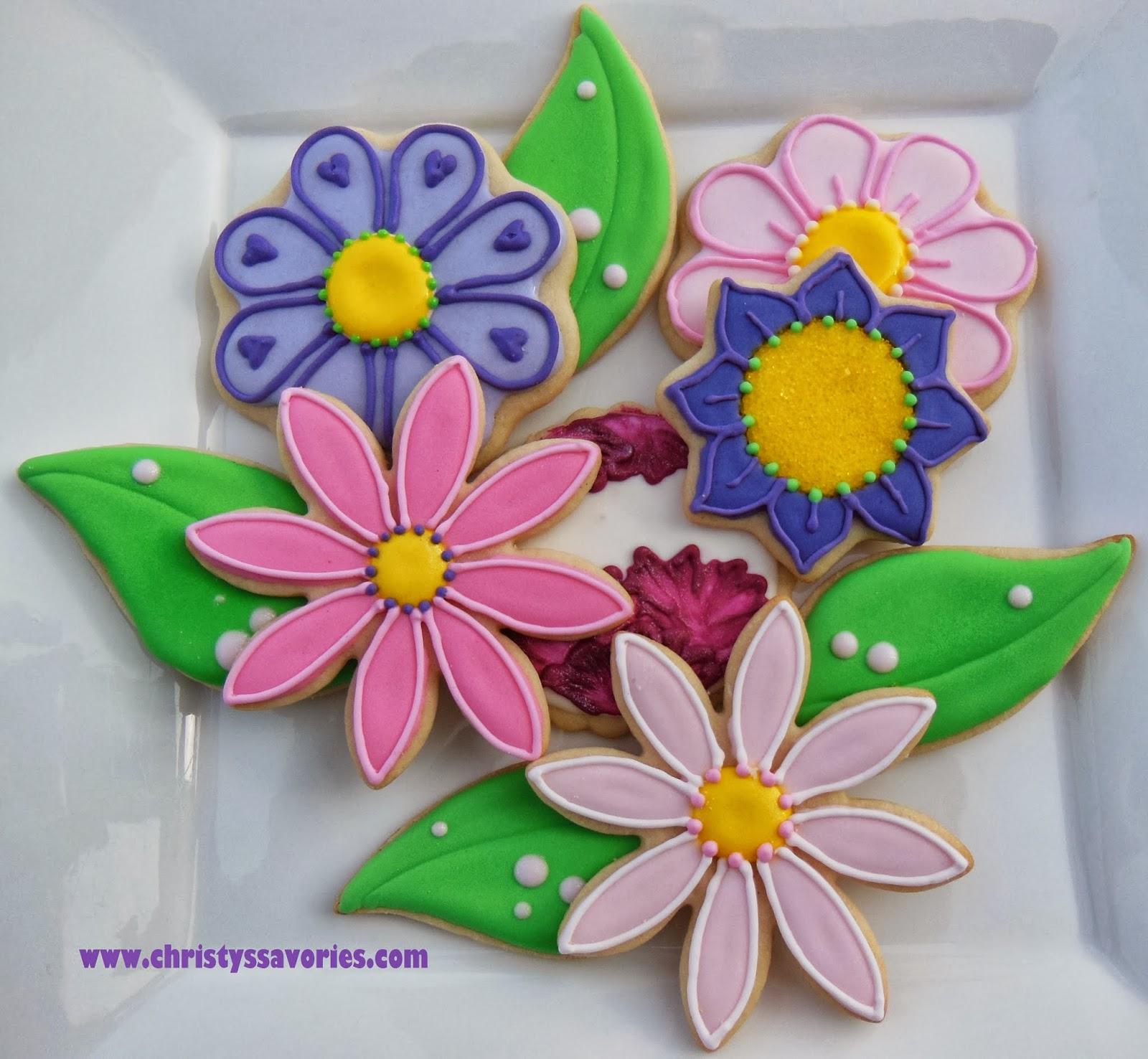 Christys Savories Pink Purple Flowers