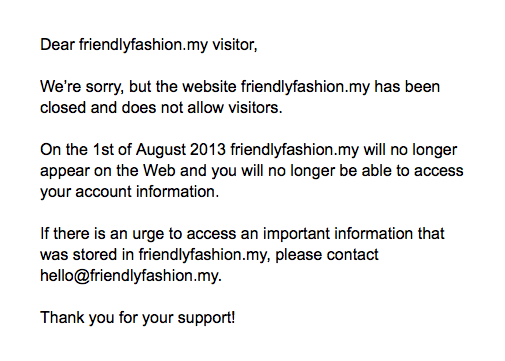 friendly fashion web