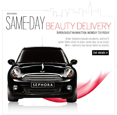 Sephora, Sephora Same-Day Beauty Delivery, beauty, beauty products, beauty delivery, beauty products delivery