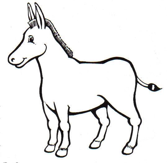 Animales por el abecedario burro para colorear - Imagui