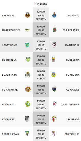 Primeira Liga 2016-2017 1ºJornada