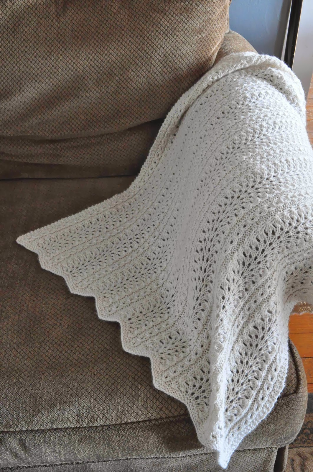 Arrow Acres Farm Hand Knit Alpaca Blanket