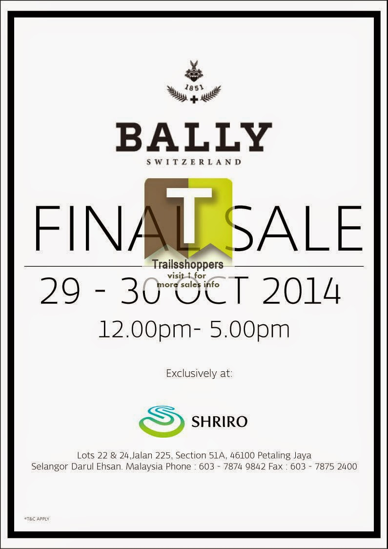 BALLY Final Sale shiro petaling jaya