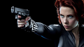 Scarlett Johansson as Black Widow with Gun The Avengers HD Wallpaper