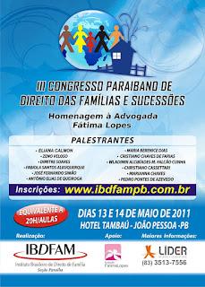 III Congresso Paraibano de Família e Sucessões