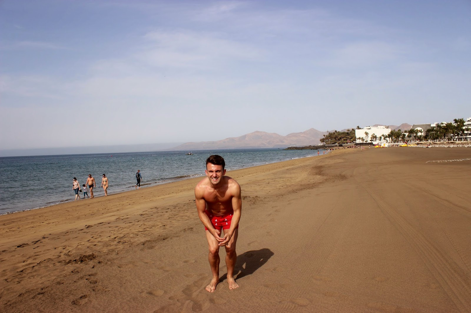 lifestyle, eating & drinking, lanzarote, holiday, beach, sunshine, summer, canary islands, swimwear, mens fashion, That Guy Luke, That Guy Lukey, men, dinner, cafe la ola, puerto del carmen, p20, ted baker flip flops,