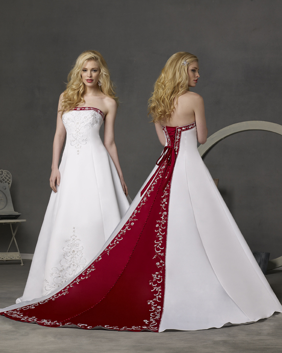 Wedding Dresses Color Red : Wedding addict timeless red and white dresses