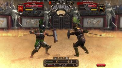 Сражение гладиаторов в игре