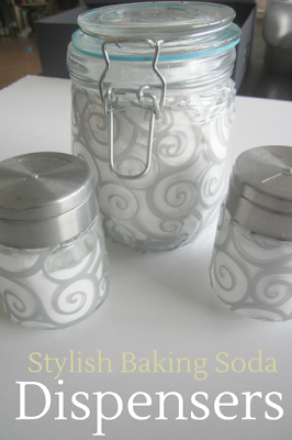 easy diy way to decorate clear glass jars and containers with designs