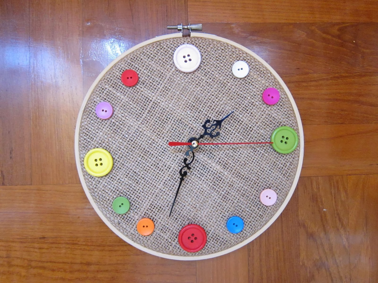Wall clock kids image collections home wall decoration ideas shine kids crafts clocks made by stitchery loops clocks made by stitchery loops amipublicfo image collections amipublicfo Gallery