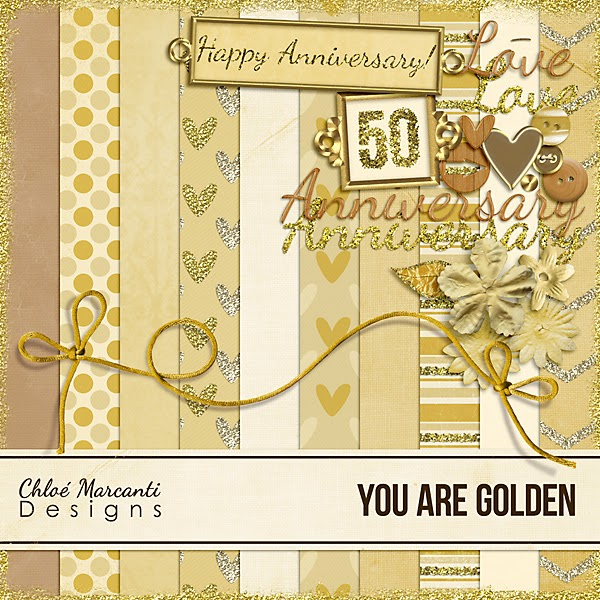 "Free scrapbook kit ""You are golden"" by Chloe s Ramblings"