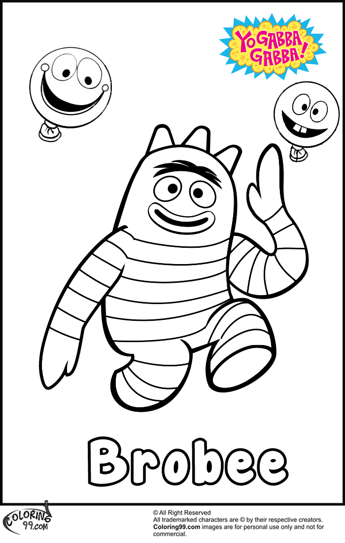 brobee playing coloring pages