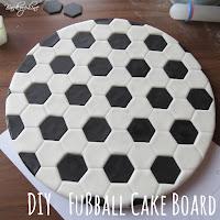 Fußball Cake Board selber machen