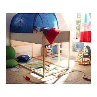 Great The bed is reversible and can either be a low bed with a canopy or a loft bed with space to play underneath The versatility and crafting potential see