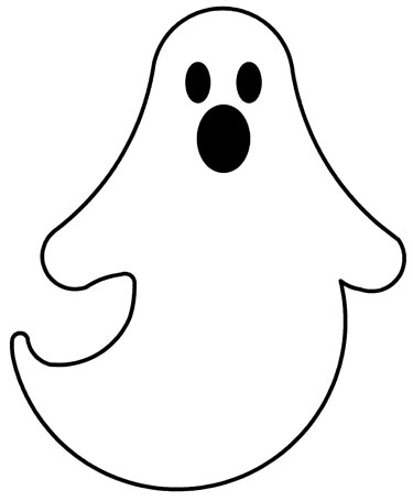 Sweet image inside ghost printable