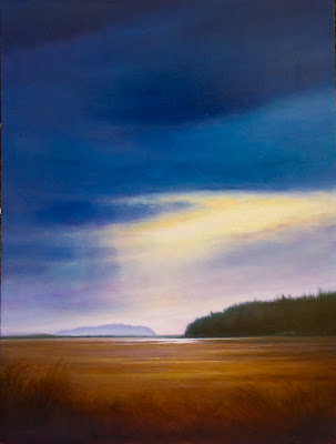 an oil painting of Pond Island, Maine by artist Colin Barclay