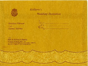 Telugu Wedding Cards