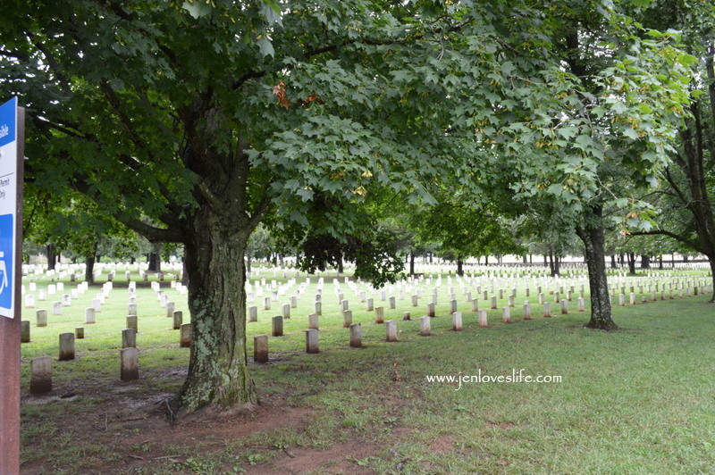 graves at the National Cemetery