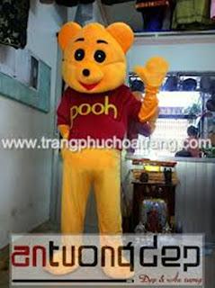 cho thuê mascot gấu pooh