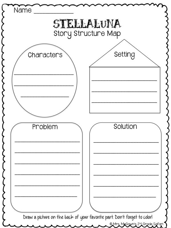 Mrs MeGowns Second Grade Safari Stellaluna Literacy Activities – Stellaluna Worksheets