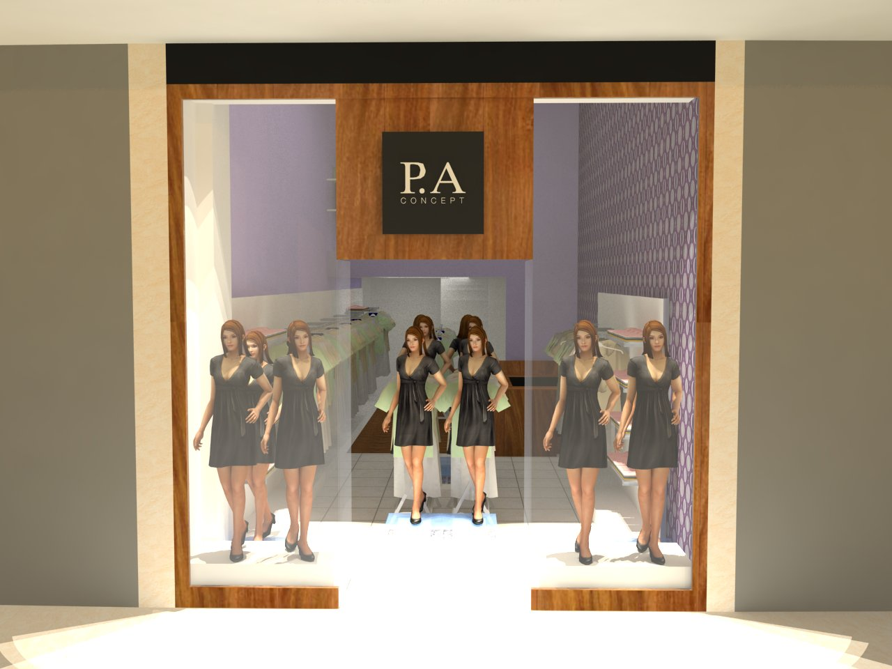 Extremamente Loja de Roupas - Shopping   Arquitetura do Amanhã SF11