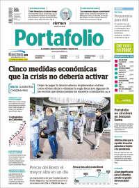 03/04/2020   UNA  PRIMERA PÁGINA DE LA PRENSA COLOMBIANA