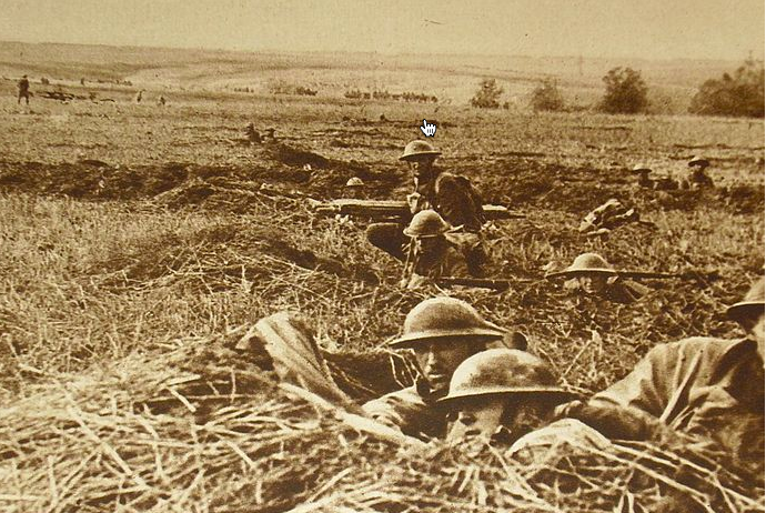 WW 1, men in battle,