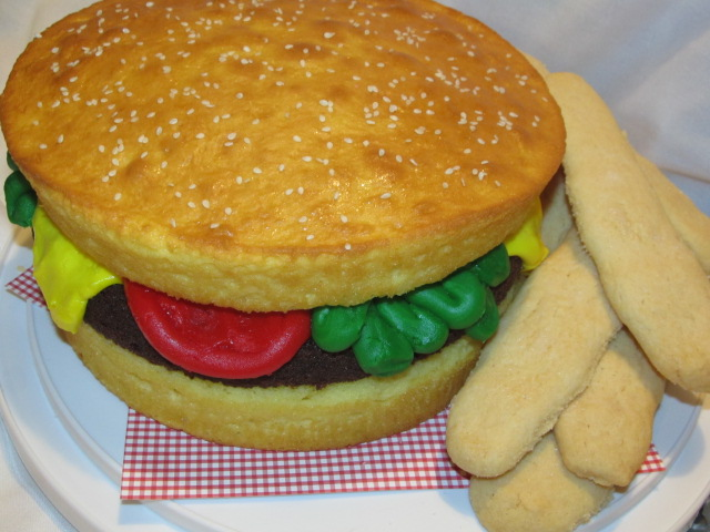 Hide n Go Scrap: Hamburger Cake: Devs Birthday 2012