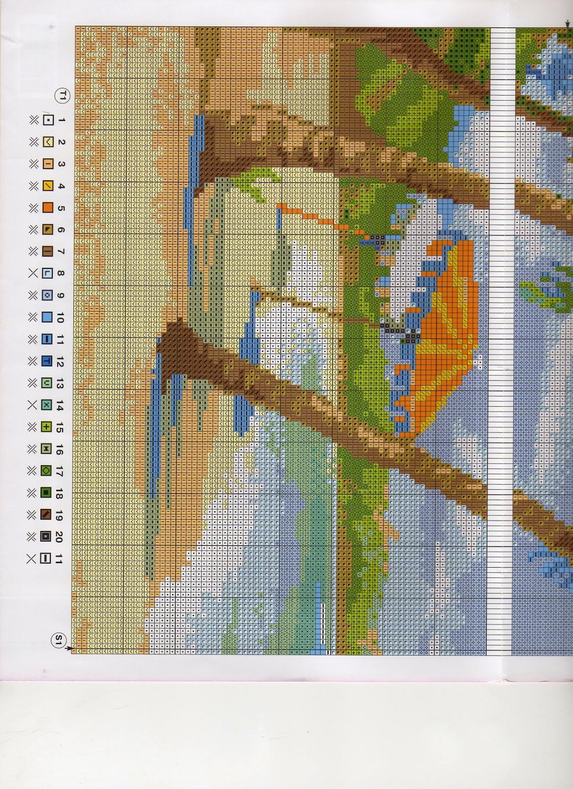 Схема вышивки риолис пейзажи 51