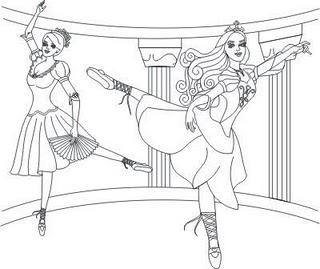 Desenhos Preto e Branco Princesa Barbie Barbies  bailarina Colorir