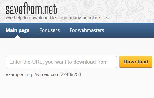 線上影片下載網站推薦:SaveFrom.net