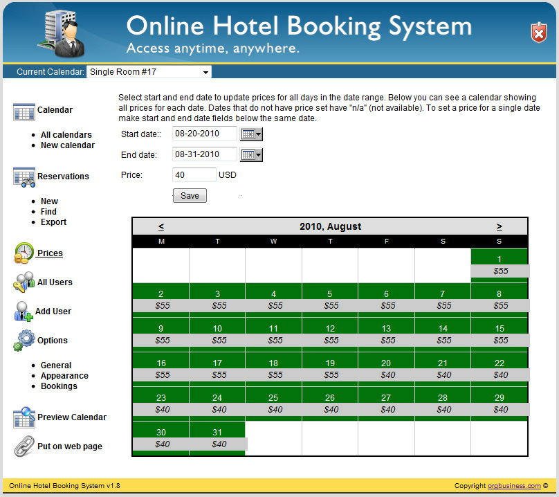 Online hotel reservation software makes easy hotel room for The hotel reservation