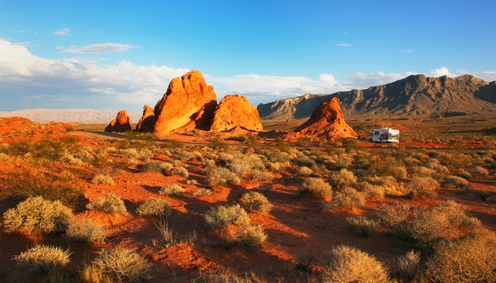 Valley of Fire State Park i Nevada - lige øst for Las Vegas