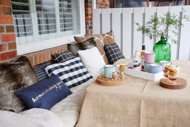 faux fur pillows blankets cable knit plaid