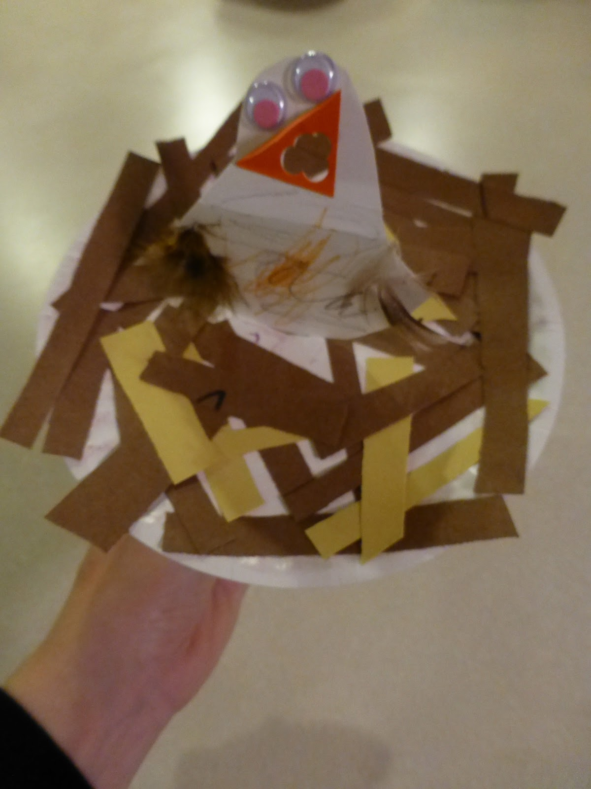 Halfway homeschooling spring craft feeding worms to for Baby bird nest craft
