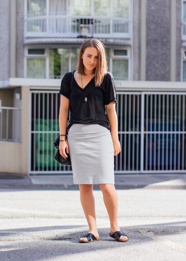 Black and gray simplicity on In My Dreams, a Vancouver, Canada based Personal Style and Fashion blog