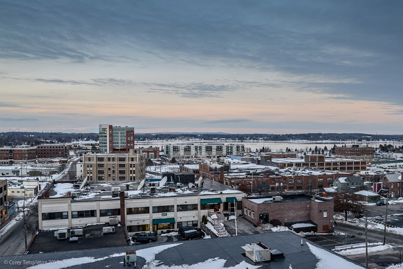 Portland, Maine Bayside neighborhood in the winter. Photo by Corey Templeton.