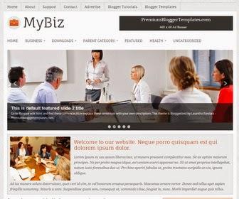 MyBiz Responsive Blogger Template