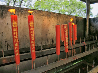 Prayer candles at Fuxing Taoist Temple on Jade Emperor Hill, Hangzhou