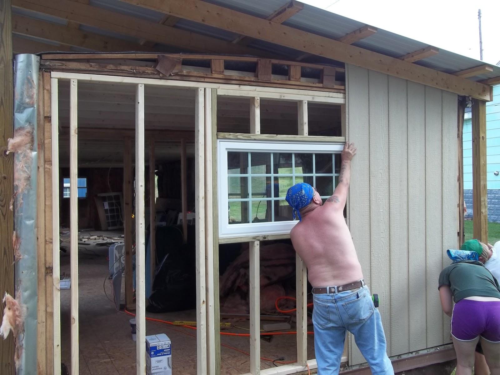 Melissa and brian 39 s great diy adventures new walls - Mobile home exterior door replacement ...