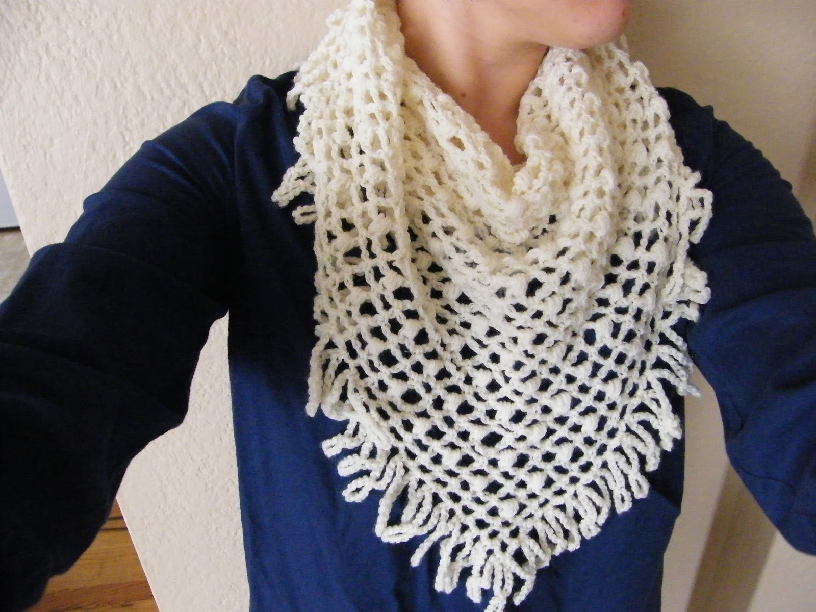 Traditionally Emily: Garden Lattice Shawl Pattern
