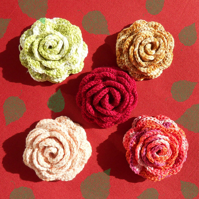 Crochet Patterns Roses Free : Tampa Bay Crochet: Ten Free Crochet Flower Patterns