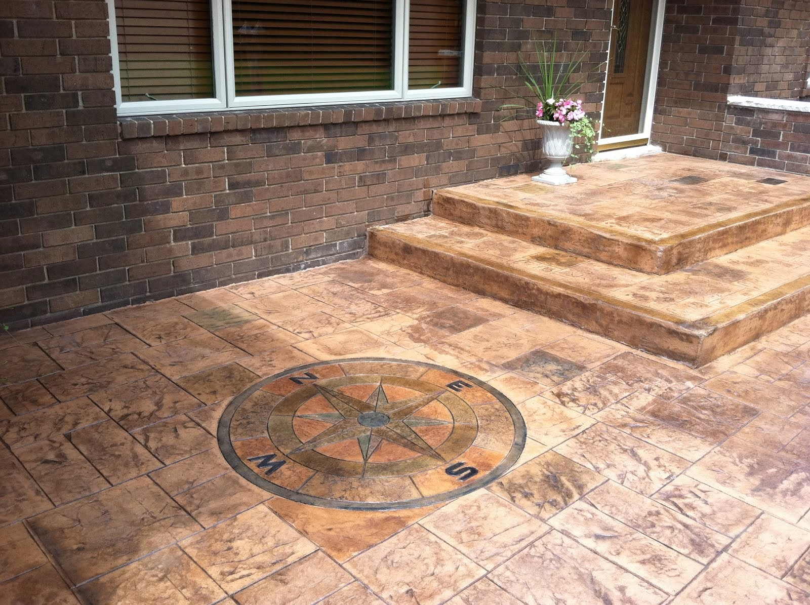 concrete creations stamped concrete patio in rochester