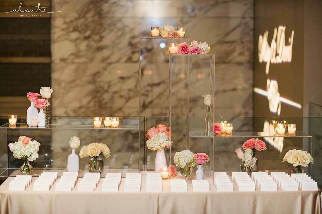 Four Seasons Hotel Seattle wedding, luxury wedding reception