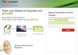refer friends payoneer
