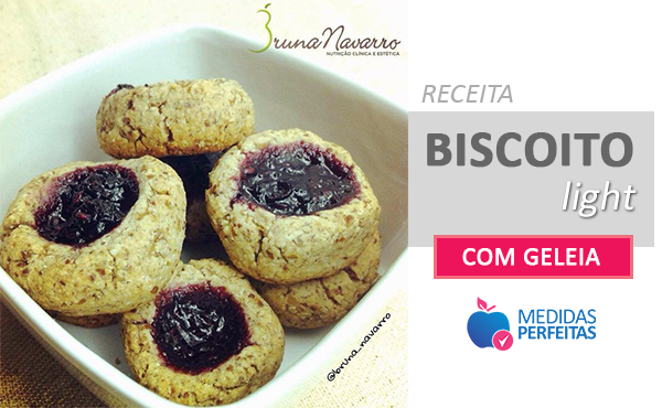 Receita de Biscoito Light com Geleia - By Bruna Navarro